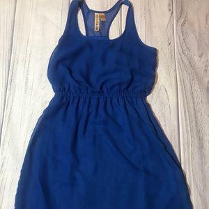 Blue Eyeshadow Racerback Summer Dress